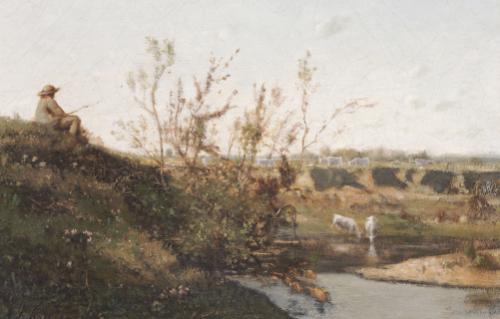 L'Abreuvoir by Henri Joseph Harpignies