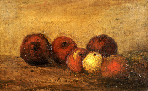 Apples. Pommes by Gustave Courbet