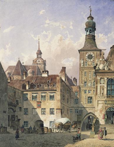 The Old Town Hall, Munich by Friedrich Eibner