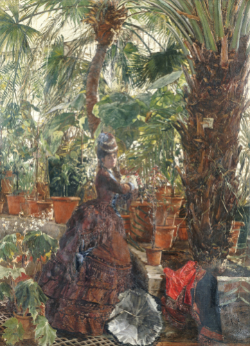 In The Conservatory, 1871 by Edouard Frederic Wilhelm Richter