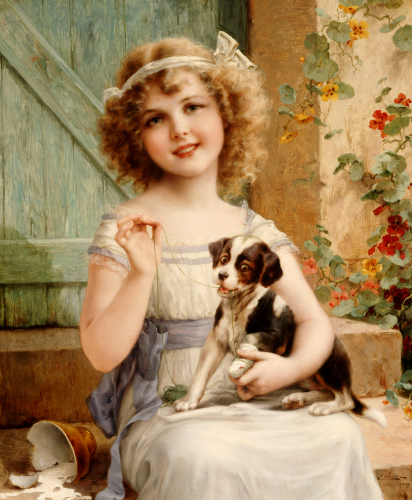 Waiting For The Vet by Emile Vernon