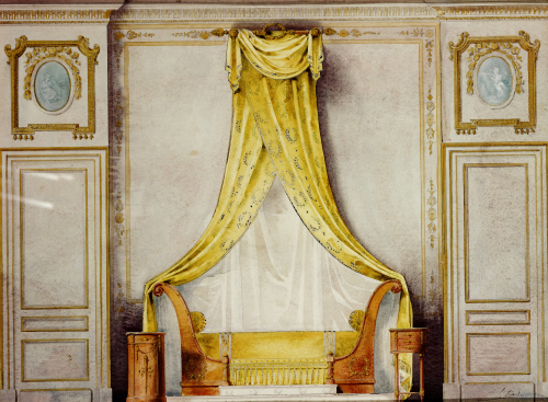 Design For An Empire Style Bedroom by Louis Beraud