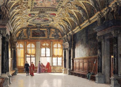 Sala Delle Quattro Porte, Palazzo Ducale, Venice, 1883 by Heinrich Hansen