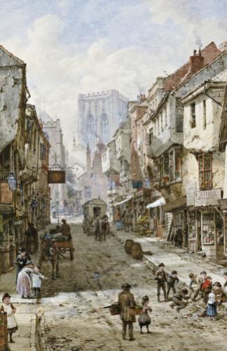Foss Gate, York by Louise Rayner
