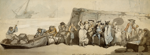 French Smugglers Detected By Custom House Officers On Landing, 1790 by Thomas Rowlandson