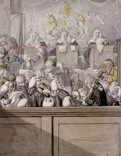 Term Time Or The Lawyers All Alive In Westminster Hall by Robert Dighton