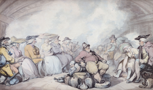 The Irish Steam Packet by Thomas Rowlandson
