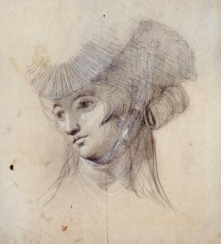 Portrait Study Of A Woman, Probably Mrs. Fuseli by Johann Heinrich Fuseli