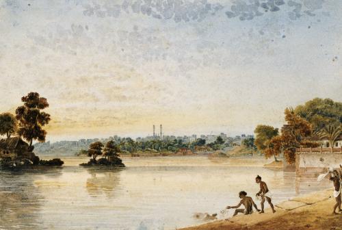 Benares From The Mundakinee Tulao by James Prinsep