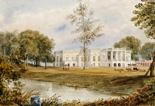 Belvedere House At Alapore by William Prinsep