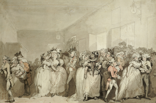 Box-Lobby Loungers, 1785 by Thomas Rowlandson