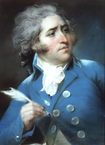 Portrait Of Major Edward Topham by John Russell