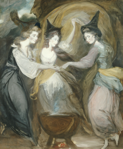Duchess Of Devonshire, Lady Melbourne And Mrs Dawson Damer by Daniel Gardner