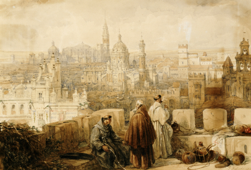 Xerex (Jerez) From The Ramparts, 1835 by David Roberts