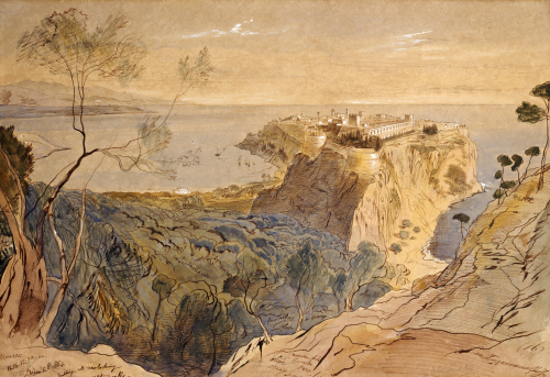 Monaco, 1864 by Edward Lear