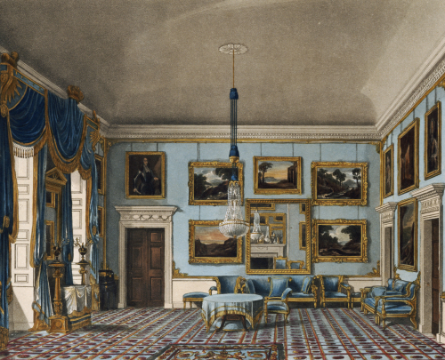The Blue Velvet Room, Buckingham House, 1819 by J. Stephanoff