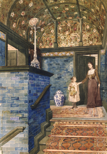 Staircase Hall With William De Morgan Tiles, Circa 1905 by T. Hamilton Crawford