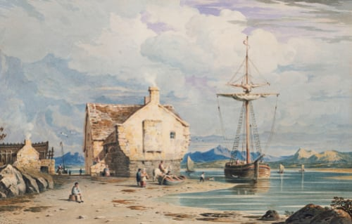 Tegwin Ferry With Snowdon In The Distance, From Near Harlech, 1826 by John Varley