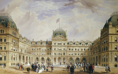 View Of The Quadrangle Of The New Liverpool Exchange by Thomas Henry Wyatt