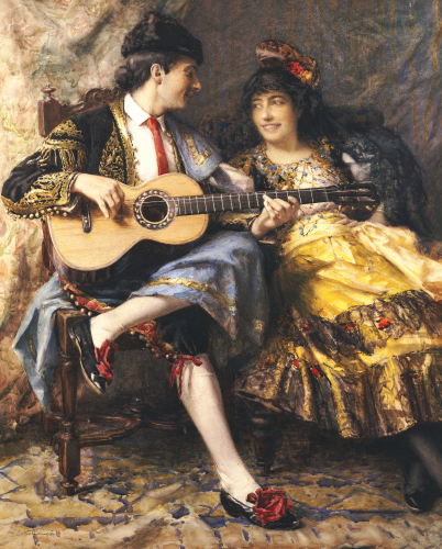 A Spanish Singer And His Lady by Arthur Alfred Burrington