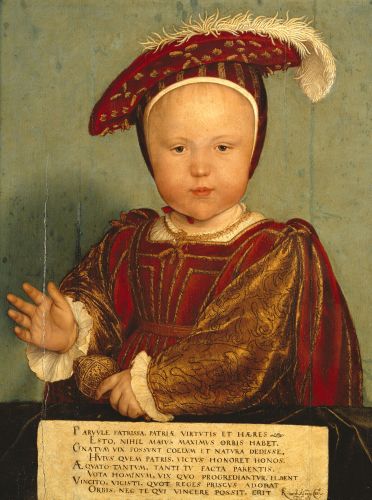 Portrait Of Edward, Prince Of Wales, Later Edward VI (1537-1553) by Hans Holbein The Younger
