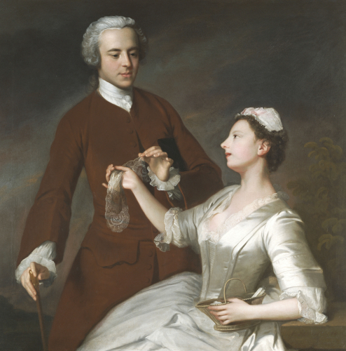 Portrait Of Sir Edward And Lady Turner, 1740 by Allan Ramsay