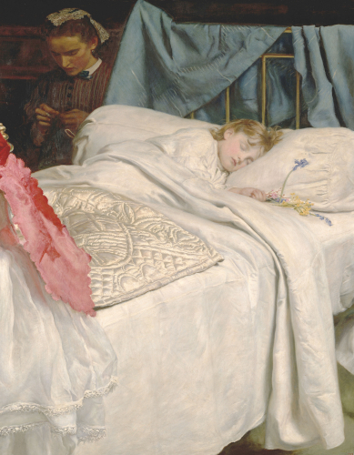 Sleeping Bart c.1865. by Sir John Everett Millais