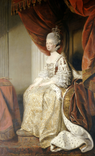 Portrait Of Queen Charlotte (1744-1818), Wife Of King George III by Sir Joshua Reynolds