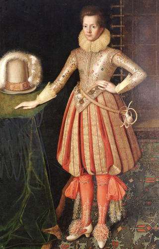 Portrait of a Gentleman in a Doublet Embroidered with Flower Motif by English School