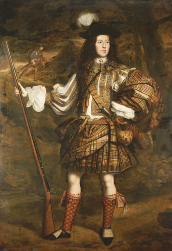 A Highland Chieftain: Portrait Of Lord Mungo Murray by John Michael Wright