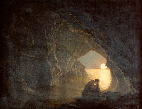 A Grotto With The Figure Of Julia, 1780 by Joseph Wright Of Derby
