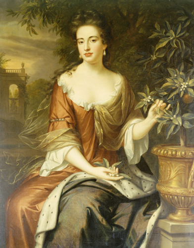 Portrait Of Queen Mary II (1662-1694) by William Wissing