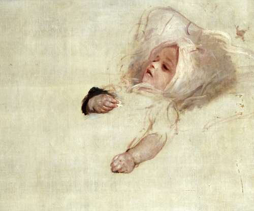 Portrait Of A Baby, Head And Hands by Sir Thomas Lawrence