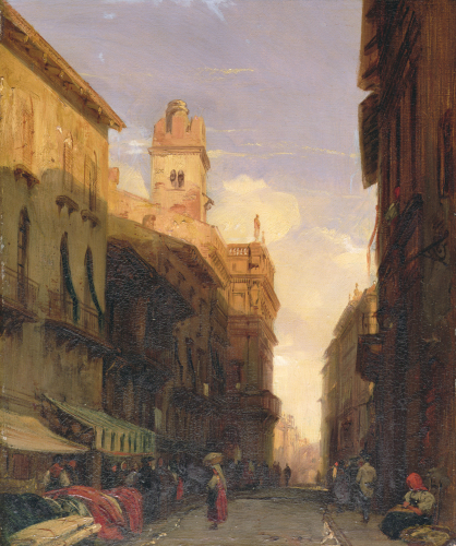 A View Of Prince Maffei's Palace, Verona, 1826 by Richard Parkes Bonington