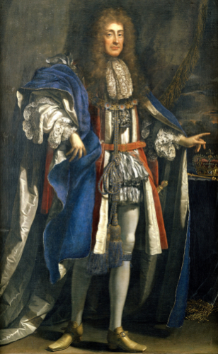 Portrait Of King James II (1633-1701), In Garter Robes by Benedetto Gennari