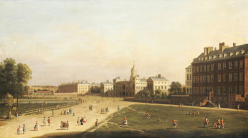 A View Of The New Horse Guards From St. James's Park, London by English School