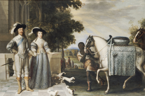 King Charles I And Queen Henrietta Maria Departing For The Chase by Christie's Images