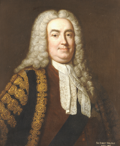 Portrait Of Sir Robert Walpole, 1st Earl Of Orford by Jean-Baptiste van Loo