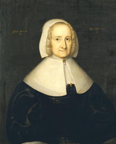 Portrait Of Lady Elisabeth Cromwell by English School