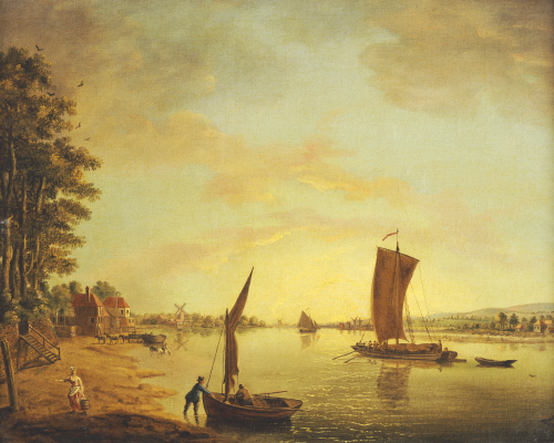 Shipping On The River Thames by Francis Swaine