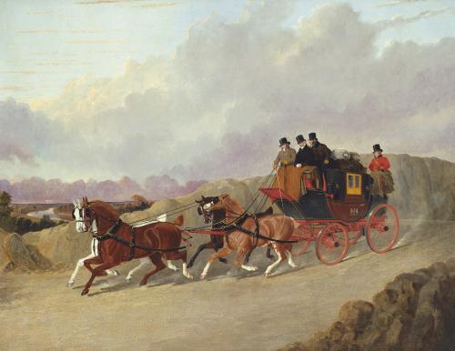 The Edinburgh To London Royal Mail Coach by John Frederick Herring