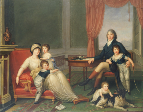 The Lambton Family In Italy., 1797 by Augusto Nicodemo