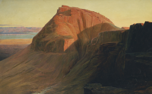 Masada Or Sebbeh On The Dead Sea, 1858 by Edward Lear