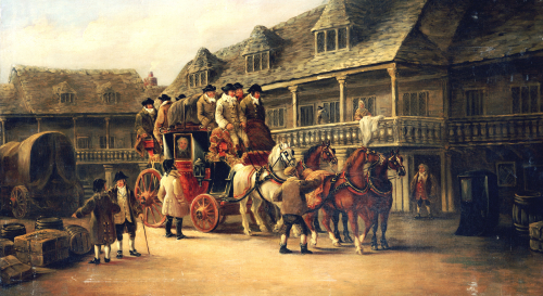 Boarding The Coach To London, 1879 by John Christian Maggs