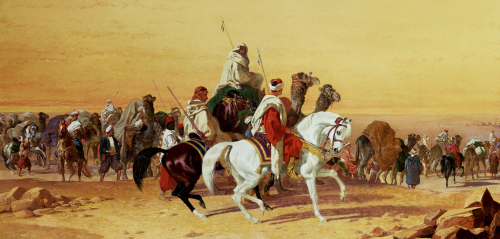 An Arab Caravan by John Frederick Herring
