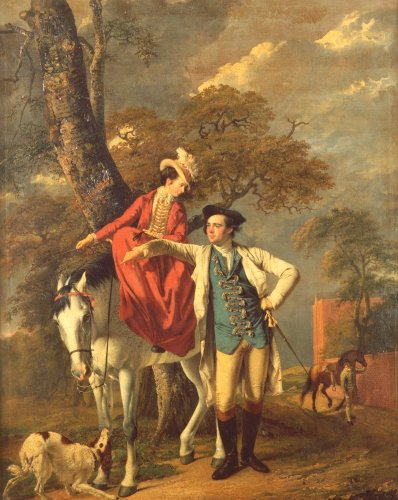 Mr. And Mrs. Thomas Coltman About To Set Out On A Ride, Circa 1770 by Joseph Wright Of Derby