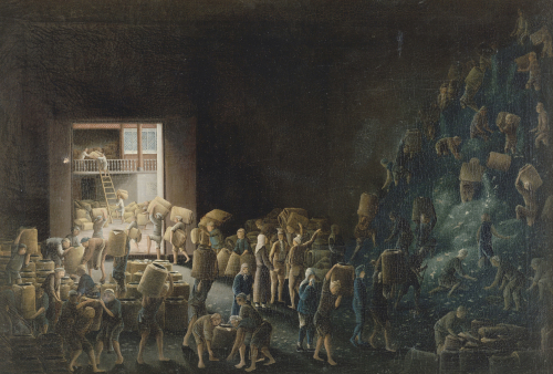 Tea Manufacture in the First Process, C.1820 by Christie's Images