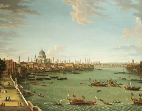 The Thames From The Terrace Of Somerset House, C.1745 by Antonio Joli