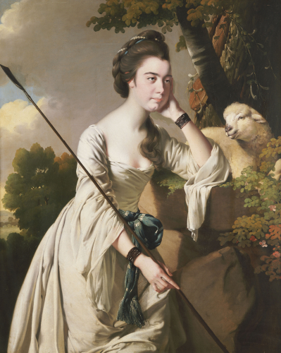 Portrait Of Anna Ashton As A Shepherdess by Joseph Wright Of Derby