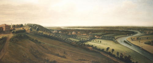 View From The Side Of The Richmond Hill Towards The Earl Of Rochester's New Park by Leonard Knyff